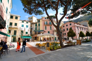 Recently restored main piazza in Monterossa