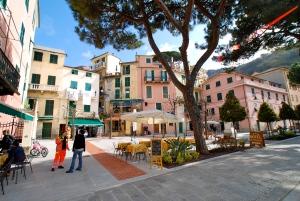 Recently restored main piazza in Monterossa