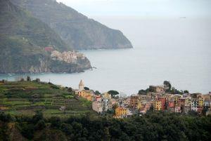 The villages of Corniglia and Manarola in Cinque Terra.