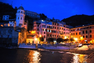 Vernazza waterfront at night