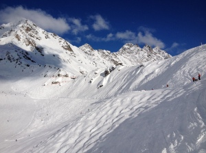Open slopes above treeline in Verbier