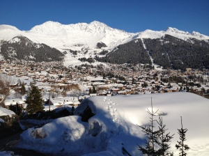 Verbier village from our chalet in Patier