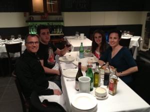 Family dinner at Ciak