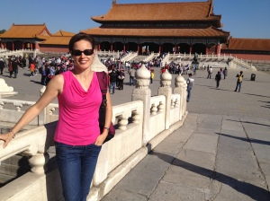Visiting the Forbidden City, Beijing.