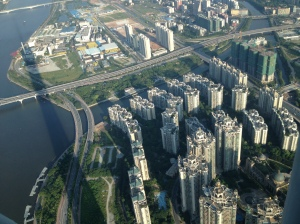 Massive apartment blocks in Guangzhou.