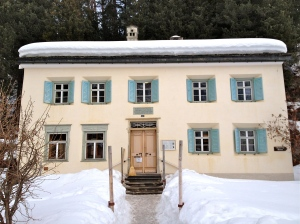 The Nietzsche House in Sils-Maria.