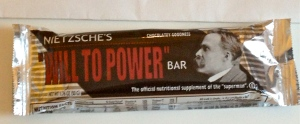 "Nietzsche's Will to Power"" energy bar, nutritional supplement of the ""superman""!"