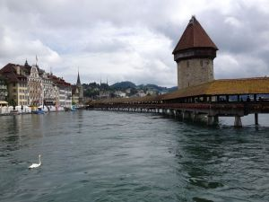 The Kappellbrucke in Lucerne.