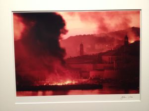 Dubrovnic ablaze during the siege of 1991-92.