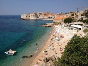 Dubrovnik's main public beach