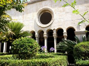 Cloister and gardens of the Franciscan monastery