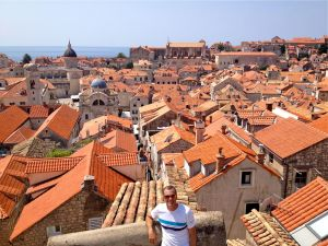 Yours truly, enjoying the view of the old town from the top of the wall