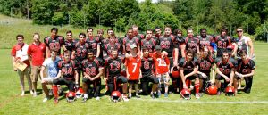 LUCAF Jrs at the final game of the season vs the Neuchatel Knights, which they won 35:7
