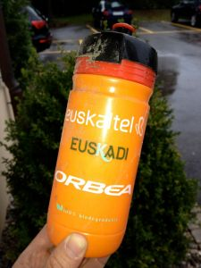 I found this team bottle on the road after Stage 4. Gotta admit, the contents tasted funny.