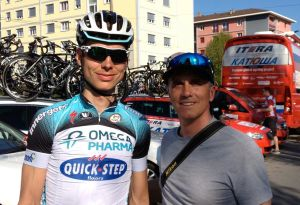 Me and my buddy Tony Martin, World Time Trial Champion.