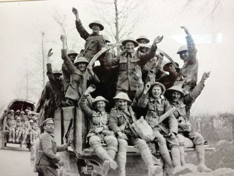 Celebrating victory after the Battle of Vimy Ridge.
