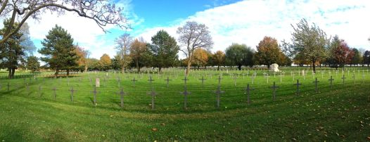 German WWI cemetery outside Neuville-St Vaast, final resting place for 44,000 dead.