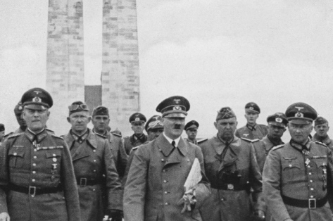 Hitler visited the Vimy memorial in June 1940.