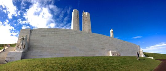 The Vimy memorial, restored to its former glory in 2007.