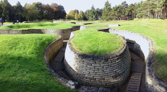 Trenches at Vimy Ridge.