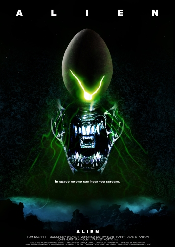 Original poster for the movie Alien