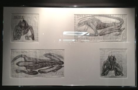 The museum's collection includes some original Giger drawings as well. This one was for Alien III.