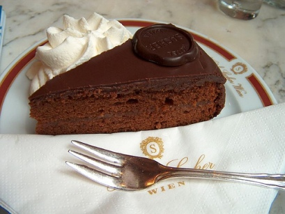 The famous Sachertorte with Schlagsahne