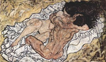 "Schiele's ""Pair Embracing"""