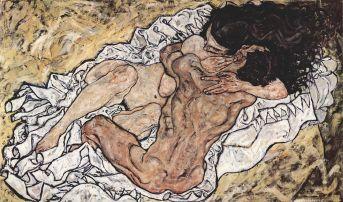 "Schiele's ""Pair Embracing"""