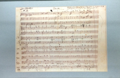 A draft of one of Mozart's musical scores.