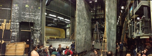 Backstage at the Staatsoper.