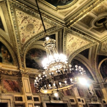 One of the hundreds of chandeliers in the Staatsoper.
