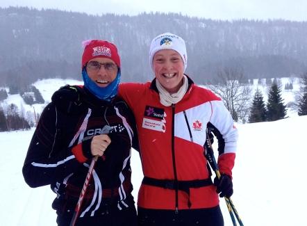 Ski testing with Coach Pav near Chapelle de Bois in the French Jura.