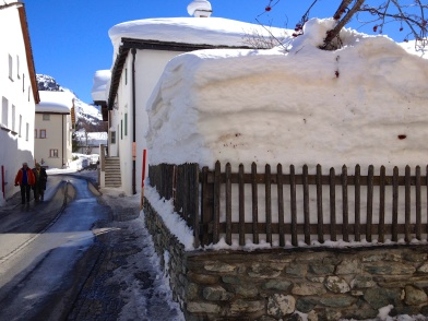 No shortage of snow in the Engadin valley.