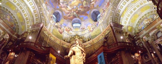 The incredible interior of the Austrian National Library.