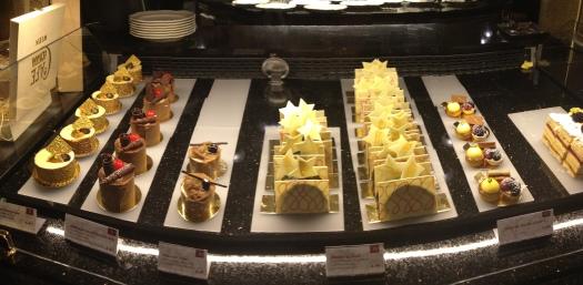 Dessert case at Cafe Centrale.