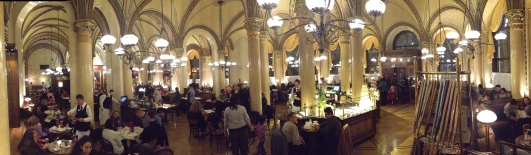 The Cafe Centrale, where Stalin, Trotsky, Freud and Hitler once took refreshment all in the same month.
