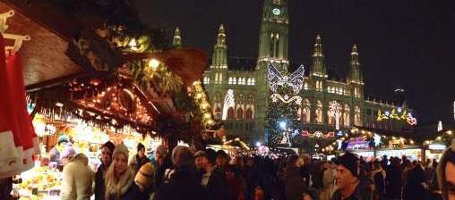 The Christmas market in front of the Rathaus (City Hall) in Vienna was our favourite.