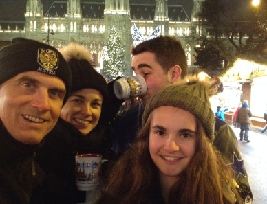 Enjoying some gluhwein, some of us more than others!
