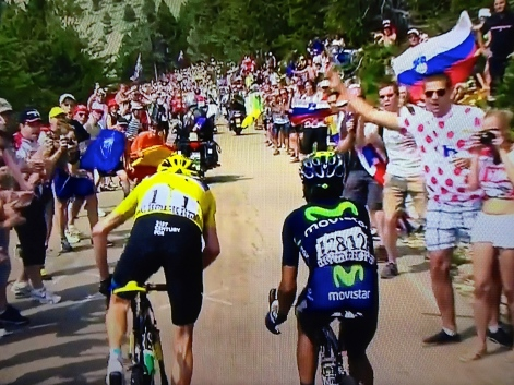 The moment the race was won, Froome attacks Quintana.