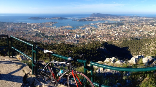 Looking down on the city of Toulon from the top of Mont Faron.