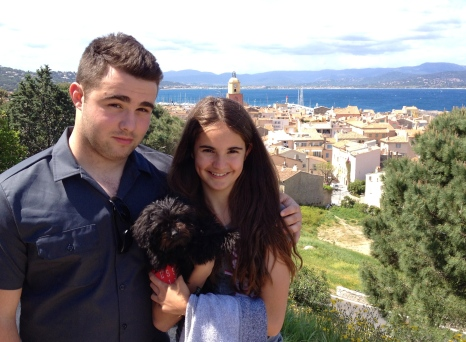 Lachlan, Emma and Coelle in St Tropez.