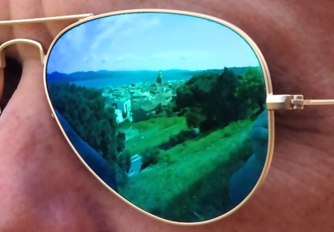 St Tropez skyline reflected in my RayBans.