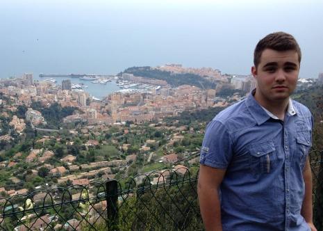Looking down into Monaco from La Turbie.