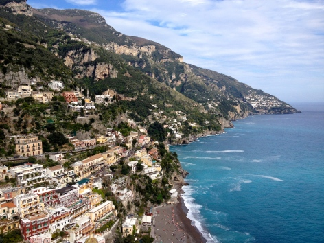 Positano and the Amalfi coast.