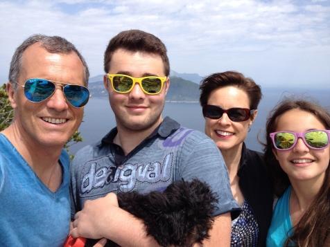 All together on the island of Capri, just off the Amalfi coast.