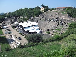 The Roman amphitheatre in Lyon (photo: Pline)