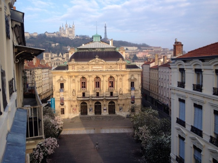 Pretty decent view of the Theatre des Celestins from our hotel room in downtown Lyon.