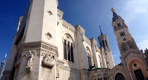 Notre Dame de Fourviere, built in the mid-19th century.