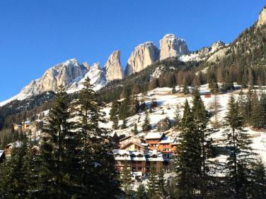 Typical Dolomites mountain scenery.